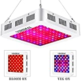 VIHIMAI 1000W LED Plant Grow Lights Updated Reflector-Series Full Spectrum,3 Chips 4 Fans Daisy Chain Growing Lamp with UV&IR for Indoor Plant HYD 2 Switches Control for Veg and Flower