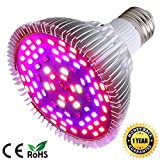 50W Led Grow Light Bulb, Led Plant Bulb Full Spectrum Grow Lights for Indoor Plants Vegetables and Seedlings, LED Plant Light Bulb for Hydroponics Indoor Garden Greenhouse and Organic Soil (E26 78LED