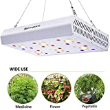 LED Grow Light - 1200W COB LED Grow Lights Full Spectrum with UV IR 3000K COBs 3W Osram Chips for Indoor Plants Veg Flower Lighting