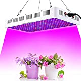 GROWSTAR 1000W LED Plant Light, Optical Lens 12-Band Full Spectrum Plants Veg and Bloom Switch Grow Lights for Indoor Plants Garden Greenhouse Hydroponic UV&IR (200pcs LEDs)
